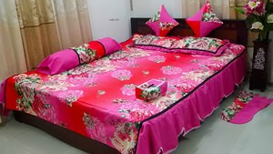 Pink Printed Bed-Cover Sets