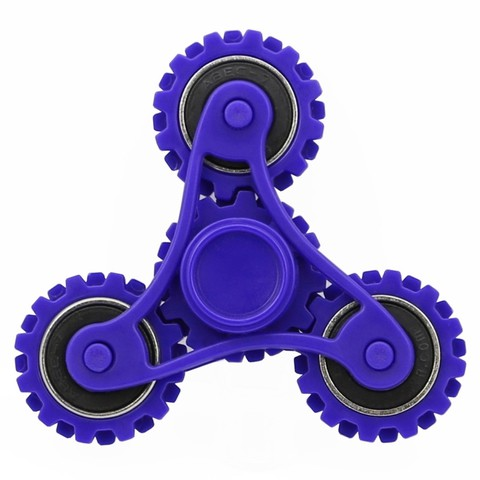 WHEEL GEARS FIDGET SPINNER  (DARK BLUE)