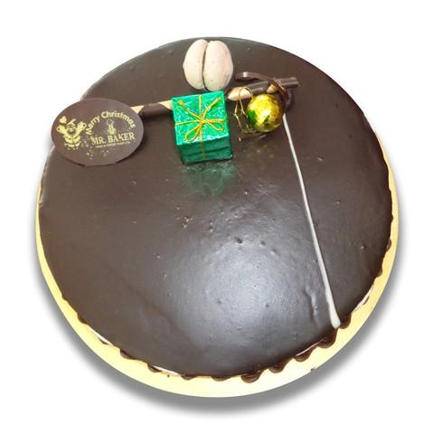 Chocolate cake with gift box