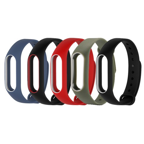 Silicone Strap For Mi band 2 (Double Color )