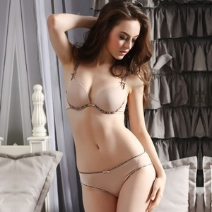 Lovebitebd Seamless Deep V Push Up Bra Set For Women