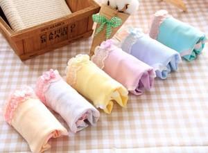 Lovebite 3pcs/lot Women Underwear Panties Girls Sweet Solid Color Soft Cotton