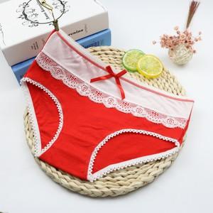 Lovebite 5Pcs/Lot Women Briefs Floral Cotton Sexy Panty Lace Panties