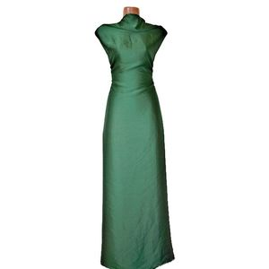 Shamu Silk Solid-Bottle Green