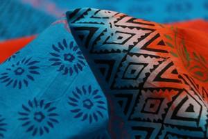 Block-Batik Prined Stitched Bedcover