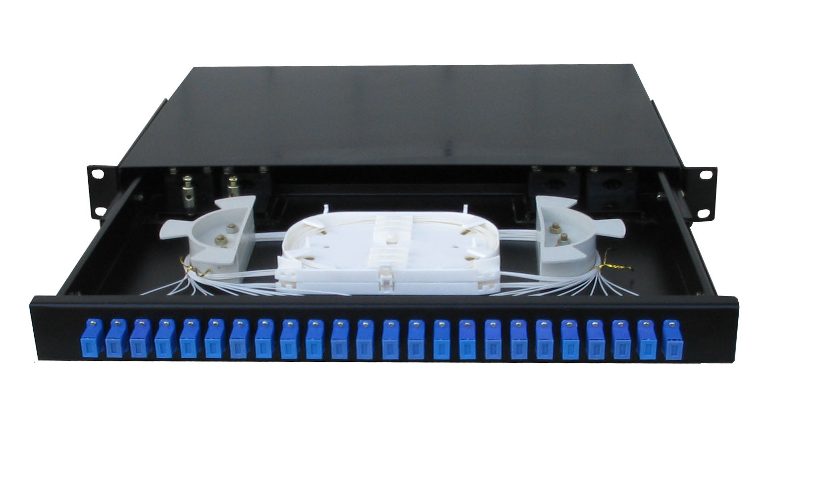 24 Port Sliding Rack Mounted Fiber Optic Terminal Box