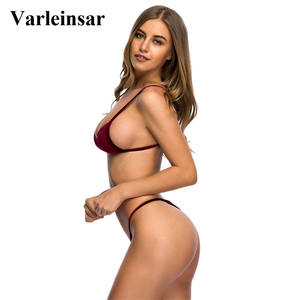 Lovebite Sexy Velvet Thong Bikini set Swimwear