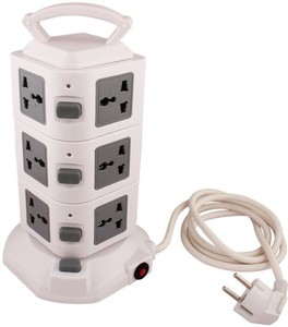 Tower Multi Plug Extension 12 A Single Pin Socket