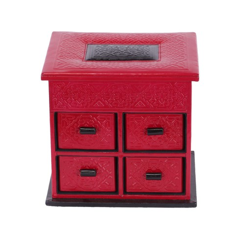 Embossed leather jewellery box