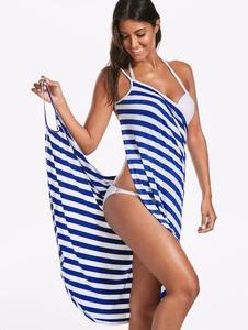 Lovebite Women V-neck Spaghetti Strap Knee-length Cover ups Beach Dresses