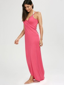 Lovebite Cover Ups Sleeveless Split Sexy Spaghetti Strap Dress