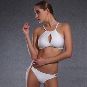 Lovebite High Tie Hole Swimsuit Beach Girls Crisscross Swimwear Bikini