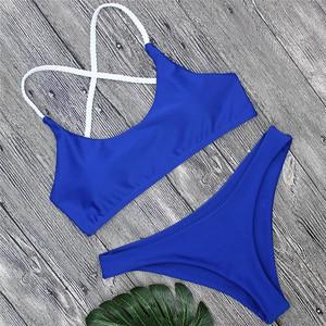Lovebite women cross bandage thong swimsuit