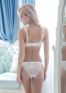 Lovebite ultra-thin Plus Size Transparent Lace Bra&Panty Sets