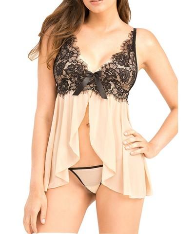 Lovebite sexy lingerie lady's lace slips dress