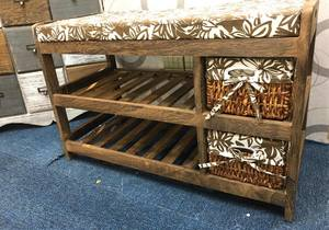 Wood Shoe rack plus seater & organiser/DLS