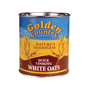 Golden Country Quick Cooking White Oats Tin - 500gm