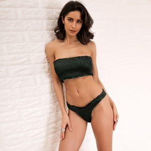 Lovebitebd Strapless Crop Top & Shorts Bra Set For Women