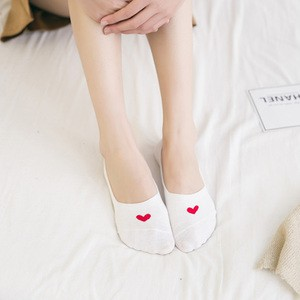 Lovebite 5 Pairs Cute Heart Shape Cotton Low Ankle Invisible Sock