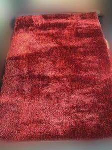Rug/Solid Color/Red+Black