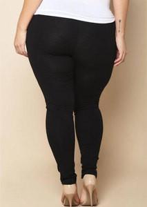 Lovebite Hole Legging Women Plus Size Pencil Pants Stretch Leggings