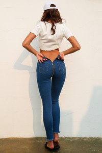 Lovebite High waist back zipper jeans pants