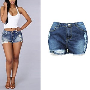 Lovebitebd Mid Elastic Waist Hemming Shorts Hot Pants For Women