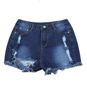 Lovebite mid elastic waist hemming Pocket decorate jeans