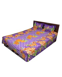 Double Size Bedsheet Set-3 pieces