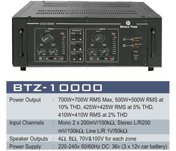 Two Zone PA Amplifiers BTZ-10000 WATTS 1000