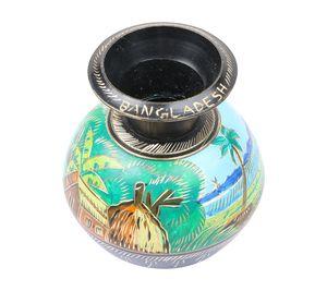 Vintage Handcrafted Showpiece Brass Jar