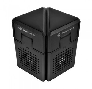 Thermaltake Satellite/NB cooler and Speaker In One/17inch/50mm*2/Plastic/Black