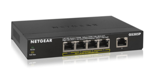 NETGEAR  5-Port with 4-Port PoE Gigabit Ethernet Switch model GS305P