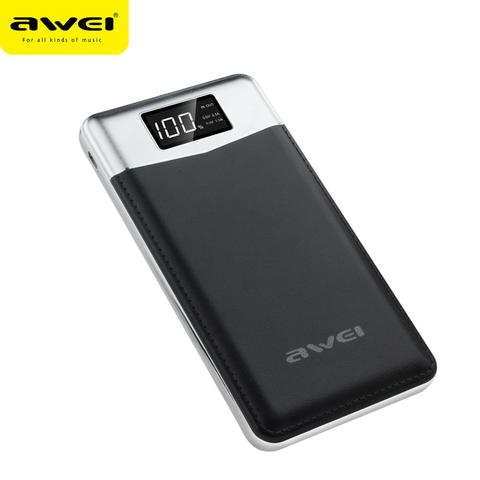 Awei P30K 10000mAh Portable Quick Charge Power Bank with Strong Flashlight