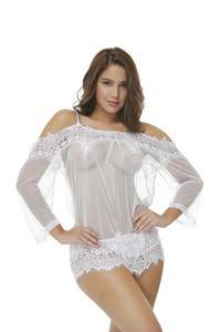 Lovebite Pajamas Cover ups See Through sexy lingerie hot Lace No padded dress