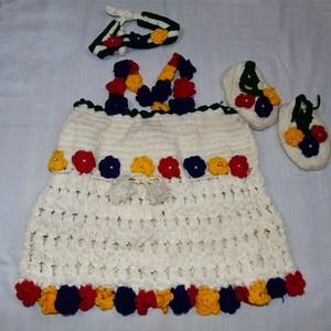 WOOLEN GIRL'S DRESS SET