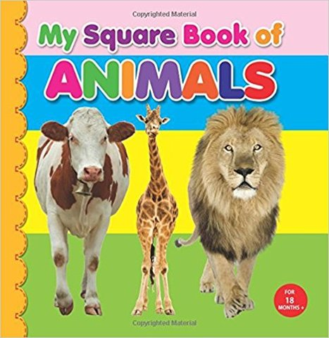 My Square Board Book: Animals