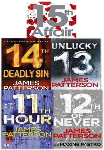 James Patterson Women's Murder Club Series 5 Books Collection Set (11-15)
