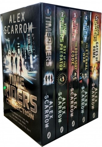 TimeRiders Collection Alex Scarrow 5 Books Set Pack (Gates of Rome, The Eternal War, The Doomsday Code, Days of the Predator, TimeRiders)