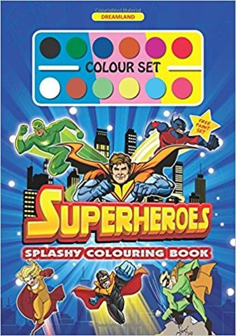 Splashy Colouring Book: Superheroes