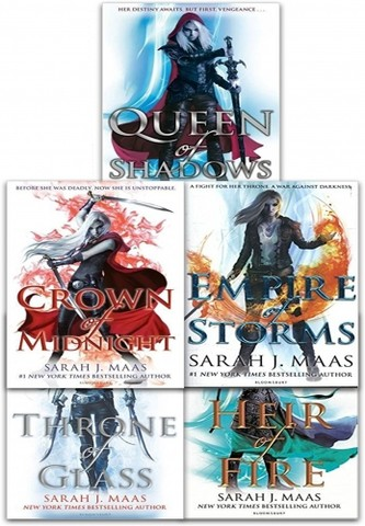 Throne Of Glass Series Collection 5 Books Set By Sarah J. Maas