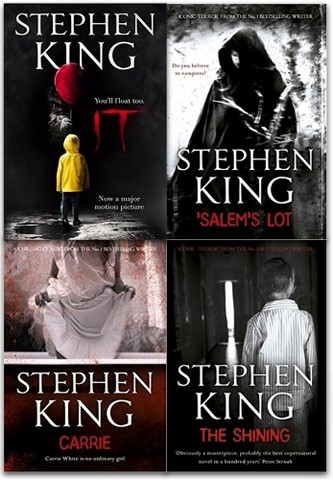 Stephen Kings 4 Books Collection Set (Stephen Kings IT, The Shining, Carrie, Salems Lot)