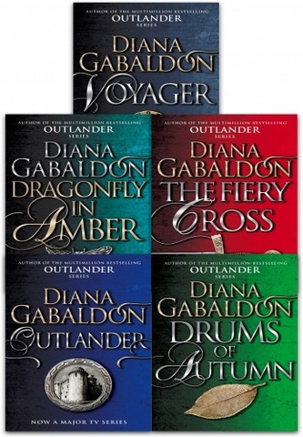 Outlander Series 1 Diana Gabaldon Collection 5 Books Set (Book 1-5) (Outlander, Dragonfly In Amber, Voyager, Drums Of Autumn, The Fiery Cross)