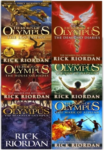 Heroes of Olympus Collection Rick Riordan 6 Books set