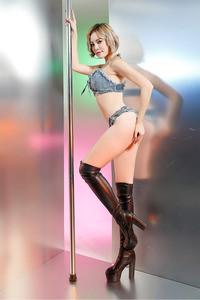 Lovebite Women Denim Camisole+Shorts Brassiere Bralette Bikini Club Party Beach Wear