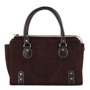 Coffee Leather Casual Hand Bag For Women