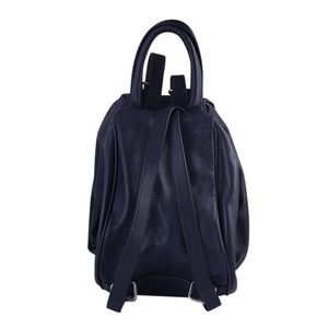 Black Leather Casual Back Pack  For Women