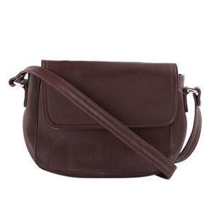 Coffee Leather Casual Shoulder Bag For Women
