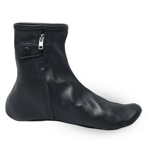 Black Leather Sock For Men
