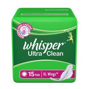 Whisper Ultra Clean Sanitary Pad 15 XL Pcs